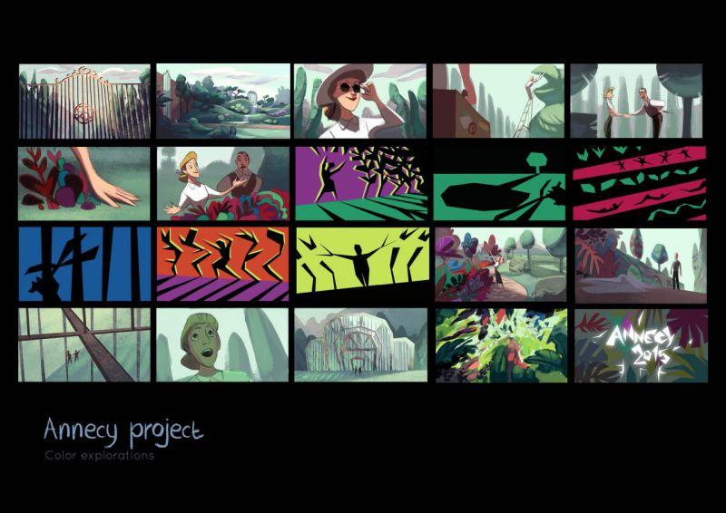 Trabalho da artista Cécile Carre, estudante do curso de animação da Gobelins, l'école de l'image.