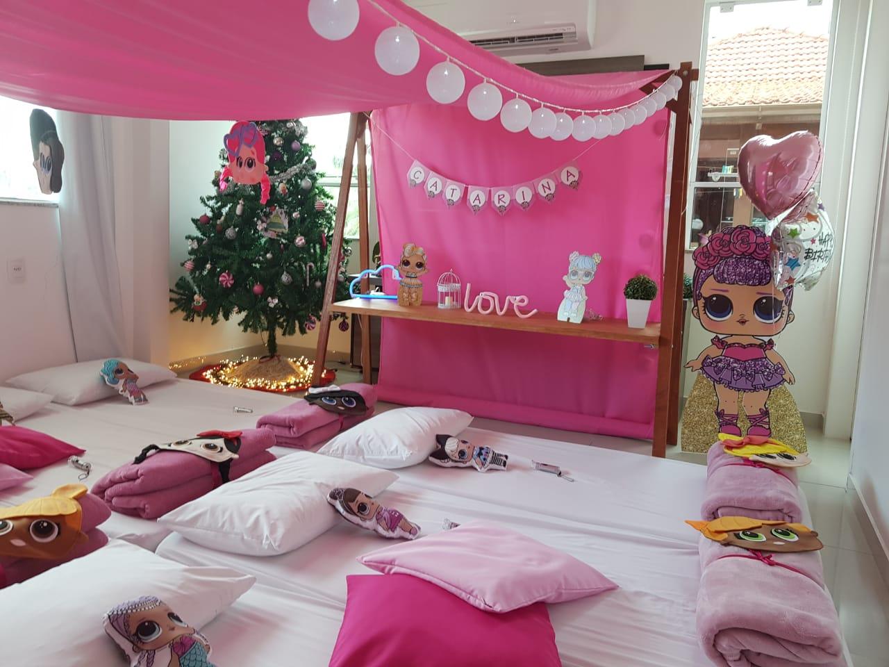 Boneca LOL e festa do pijama - uma festa dessas que eu quero!