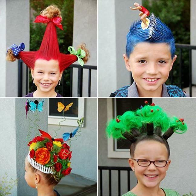 Festa do Pijama do cabelo maluco (diversão garantida)